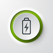 Battery web icon push button