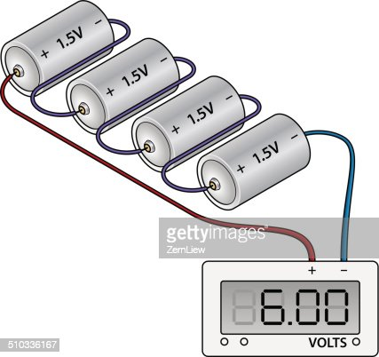 battery wiring diagram vector art getty images battery wiring diagram vector art