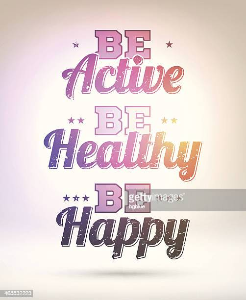 Be active, healthy, happy - Shining Background