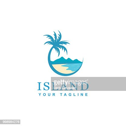 beach and island icon design : stock vector