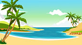 vector illustration of beach background for you design