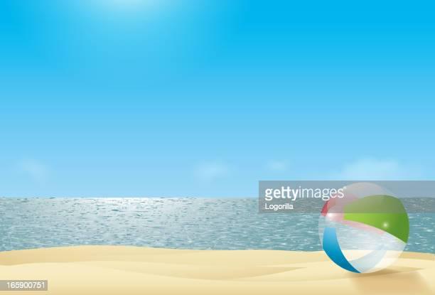 Sonnigen Strand Hintergrund