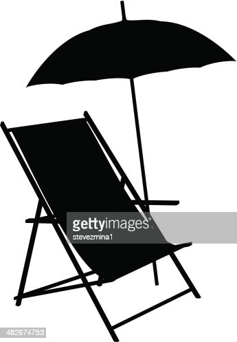 Beach Chair Silhouette Vector Art | Getty Images