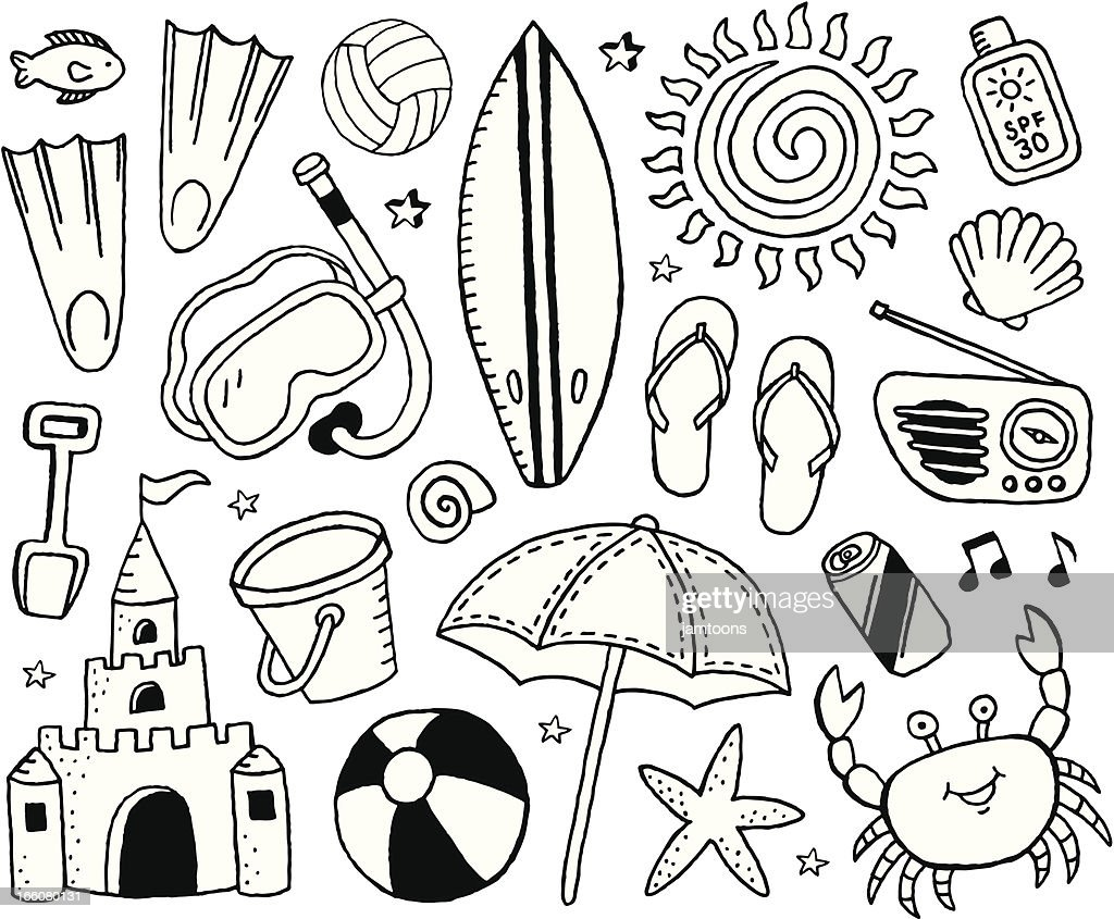 Beach Doodles : Vector Art
