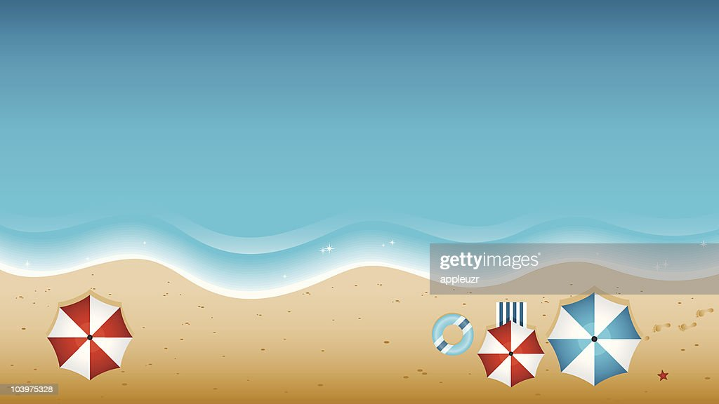 Beach From Above : Vector Art