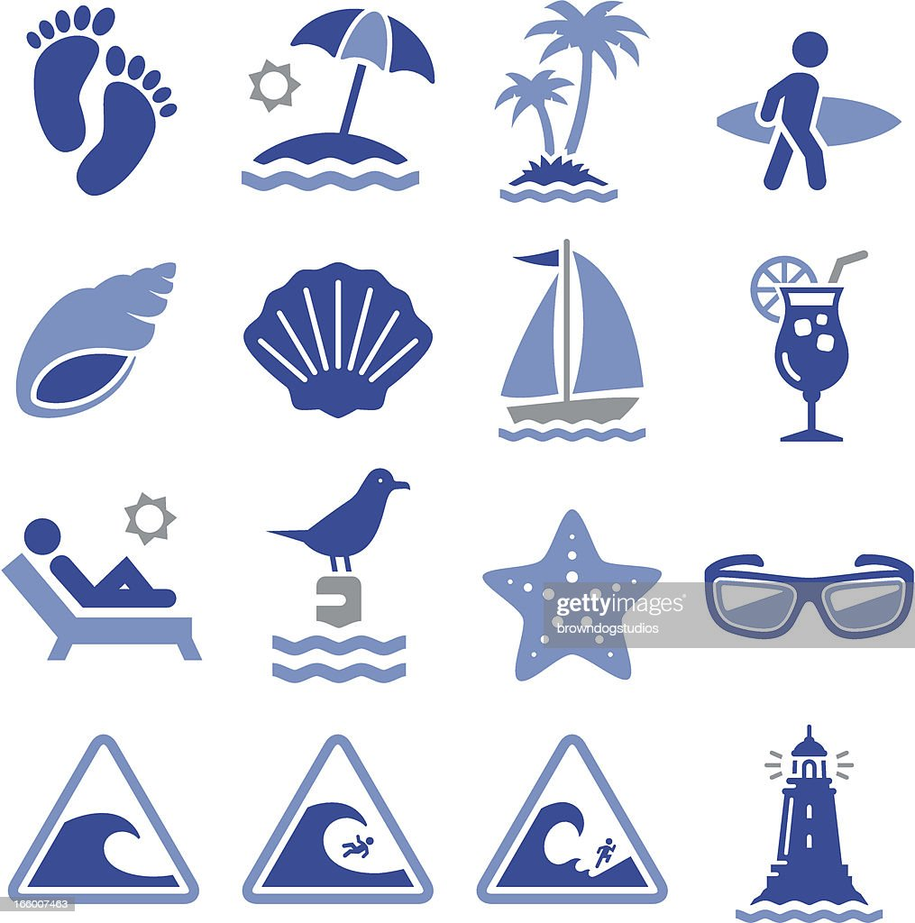 Beach Icons - Pro Series : Vector Art