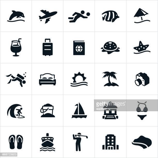 Beach Resort-Symbole