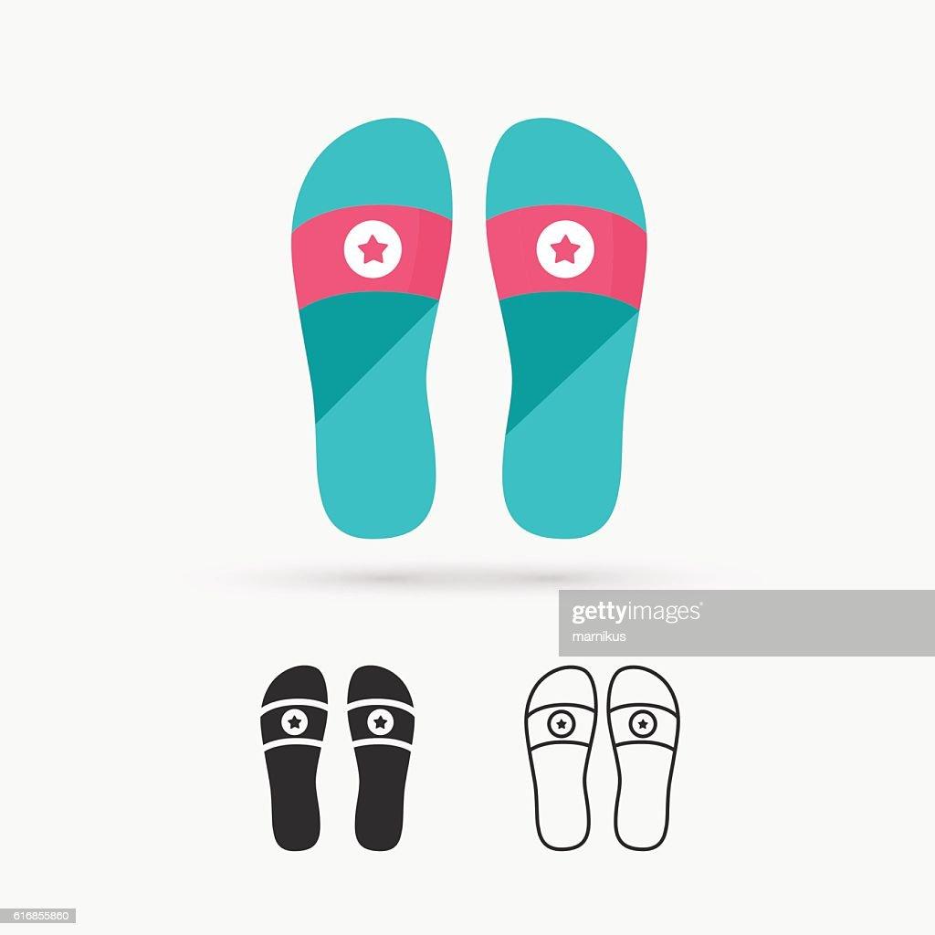 Beach slippers : Vector Art
