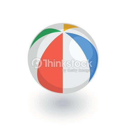 Beach volleyball, inflatable volley ball isometric flat icon. 3d vector