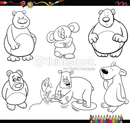 Página Para Colorear De Personajes Del Oso Arte vectorial | Thinkstock