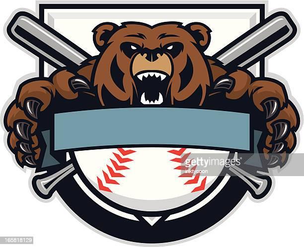 Bear Mascot Baseball