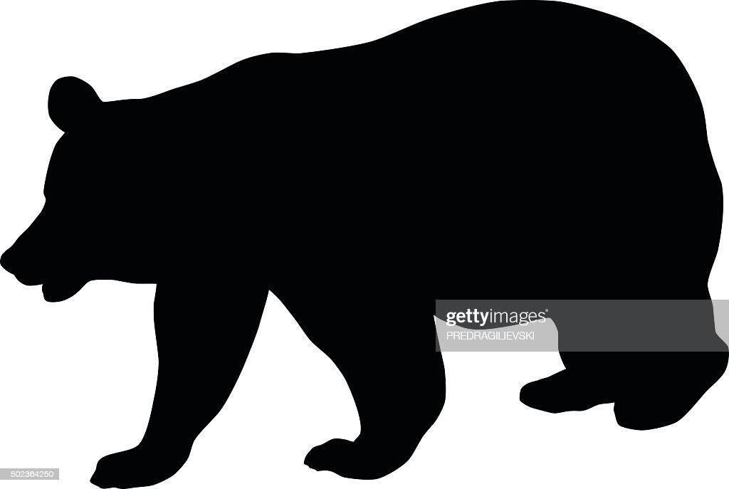 Bear Silhouette Vector Art Thinkstock Rh Thinkstockphotos Com California Teddy