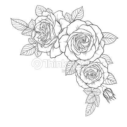 Hermoso Ramo Blanco Y Negro Color De Rosa Y Hojas Arreglo Floral ...