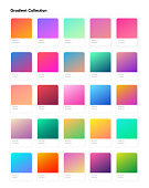 Beautiful color gradient collection. Gradients template for your design. Trendy modern soft gradients for mobile and web design. EPS 10