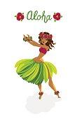 Beautiful polynesian girl - hula dancer
