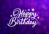 Beautiful inscription happy birthday on an elegant background. Vector Illustration