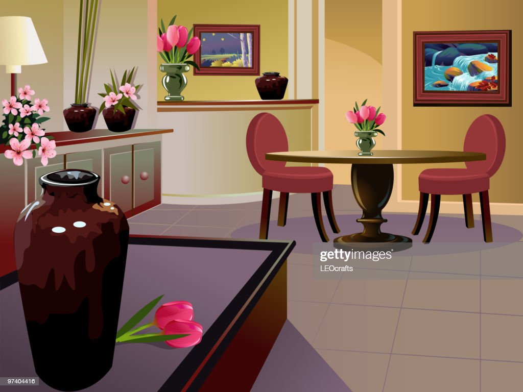 Beautiful Interior background/Drawing room : Vector Art