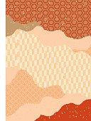 Beautiful Japanese Pattern Pattern (red)