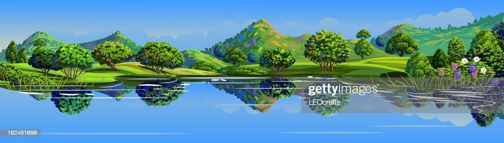 Beautiful Landscape : Vector Art