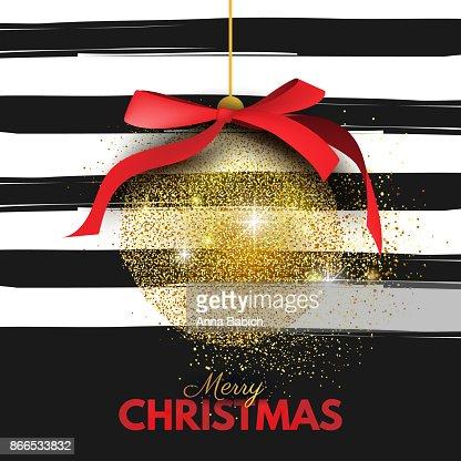 Beautiful, Merry Christmas card template, banner, layout design : Vector Art