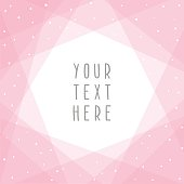 Beautiful pink abstract card template. Vector illustration