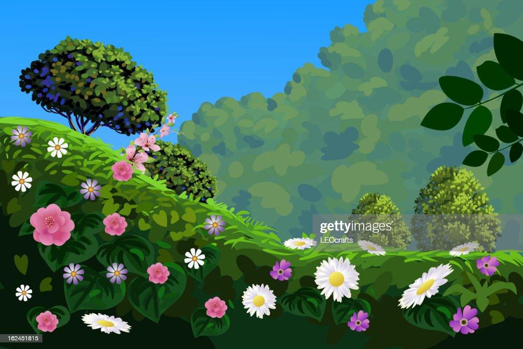 Beautiful Spring Landscape : Vector Art