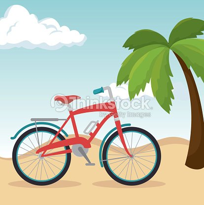Beautiful summer landscape icon