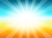 Beautiful Sun with Rays Television Vintage Background, Vector Illustration