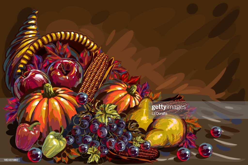Beautiful Thanksgiving Background : Vector Art