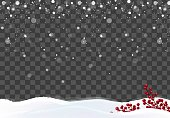 Beautiful winter snowy background. Happy new year winter frame. Vector illustration