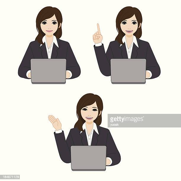 Beautiful Young Businesswoman Using Laptop
