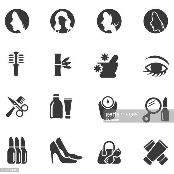 Schönheit-Icon-set