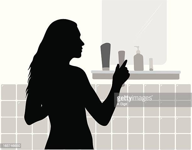 Beauty Products Vector Silhouette