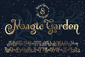 Beautyfull decorative font named 'Magic Garden' with nice textured noise effect.
