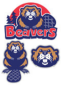 vector set of Beaver mascot