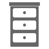 bedroom drawer isolated icon vector illustration design