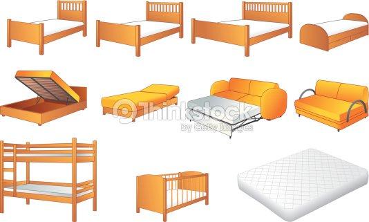 Bedroom Furniture Set Vector Illustration Vector Art Thinkstock