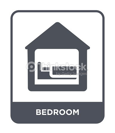 Bedroom Icon Vector On White Background Bedroom Trendy Filled Icons