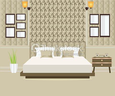 Bedroom Interior Design Vector Art