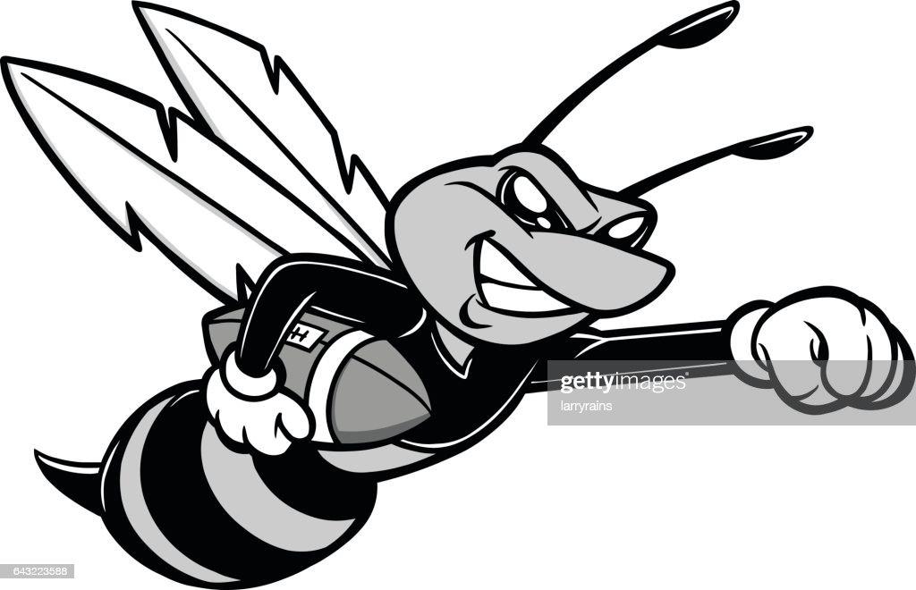 Line Art Bee : Bee football mascot illustration vector art thinkstock