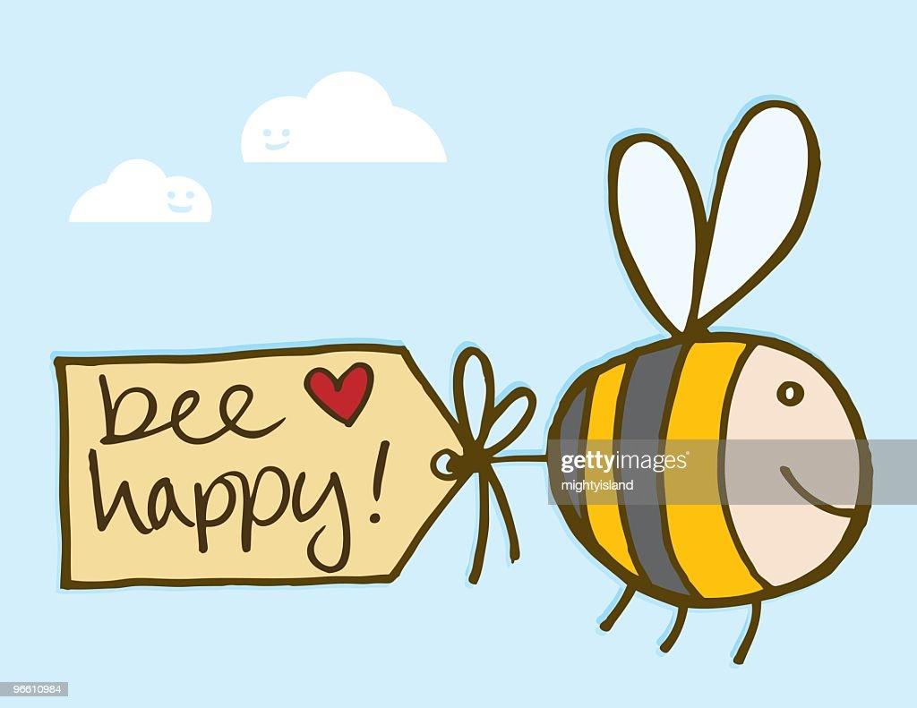 Bee Happy : Vector Art