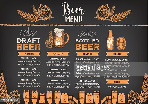 Beer Cafe Menu Template Design Vector Art  Thinkstock