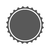 Beer cap icon. Vector simple illustration of beer cap icon isolated on white background