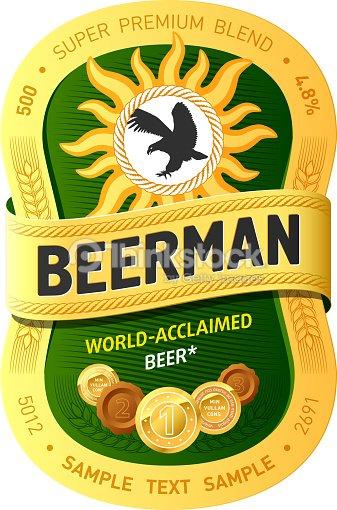 beer label design template vector art thinkstock