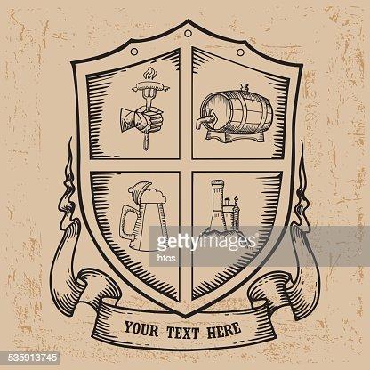 Beer label design. : Vector Art