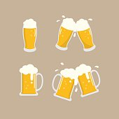 beer vector, cheers
