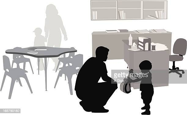 Before School Vector Silhouette
