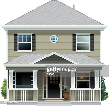 Beige House : Vector Art