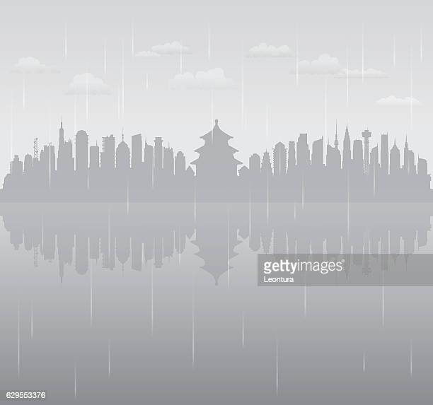 Beijing Rain (All Buildings are Complete and Moveable)