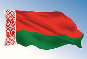 Belarus flag illustrated with gradient mesh tool.